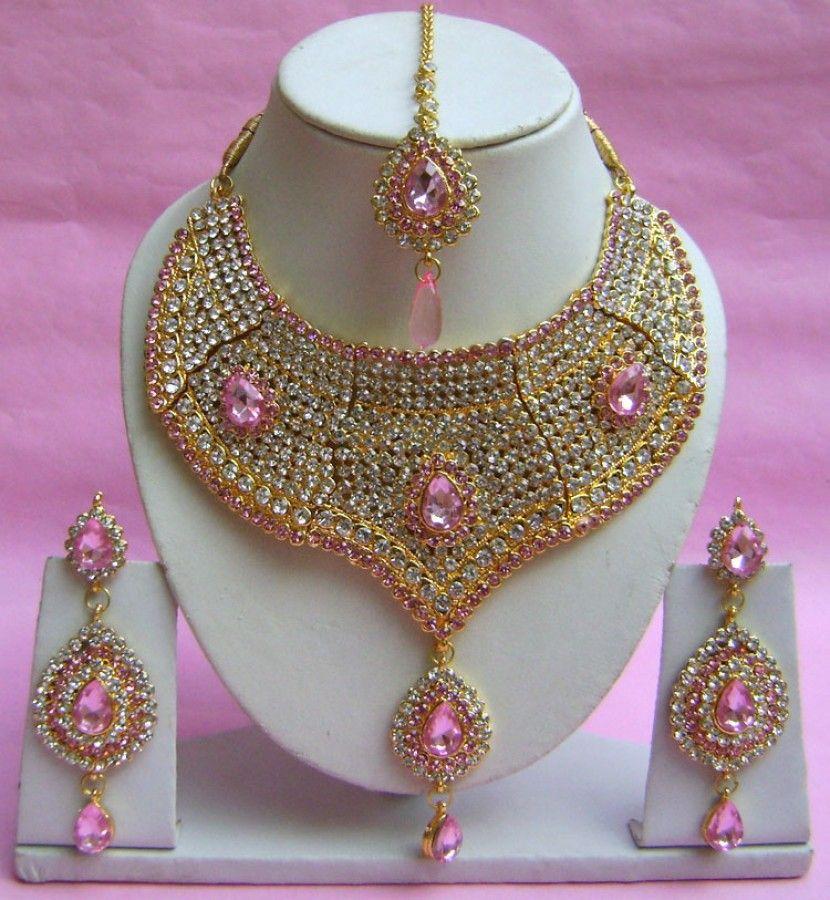 N20895 Choker Artificial Jewellery Necklace Set with Tika   Choker ...