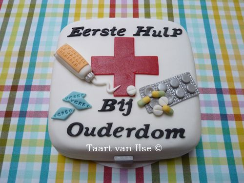 First Aid case needed when you're getting old(er) www.taartvanilse.nl