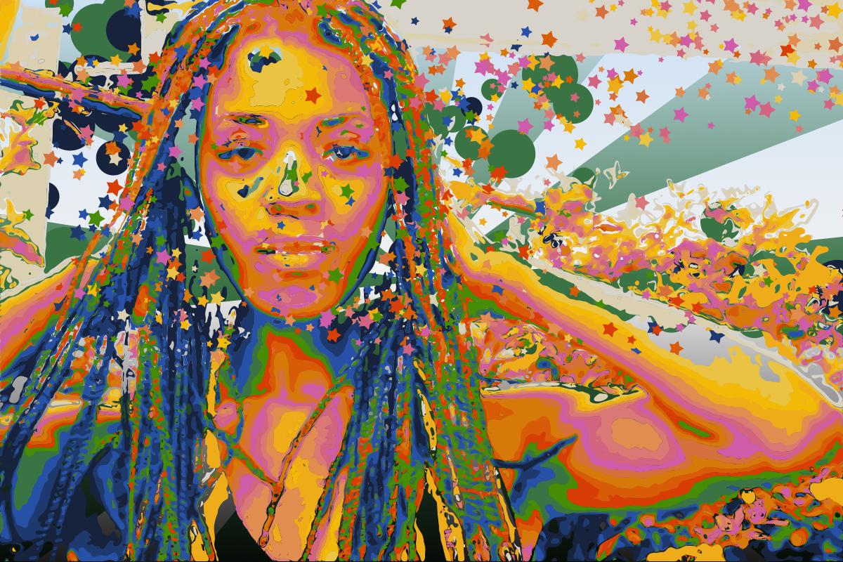 rasta colored exploded