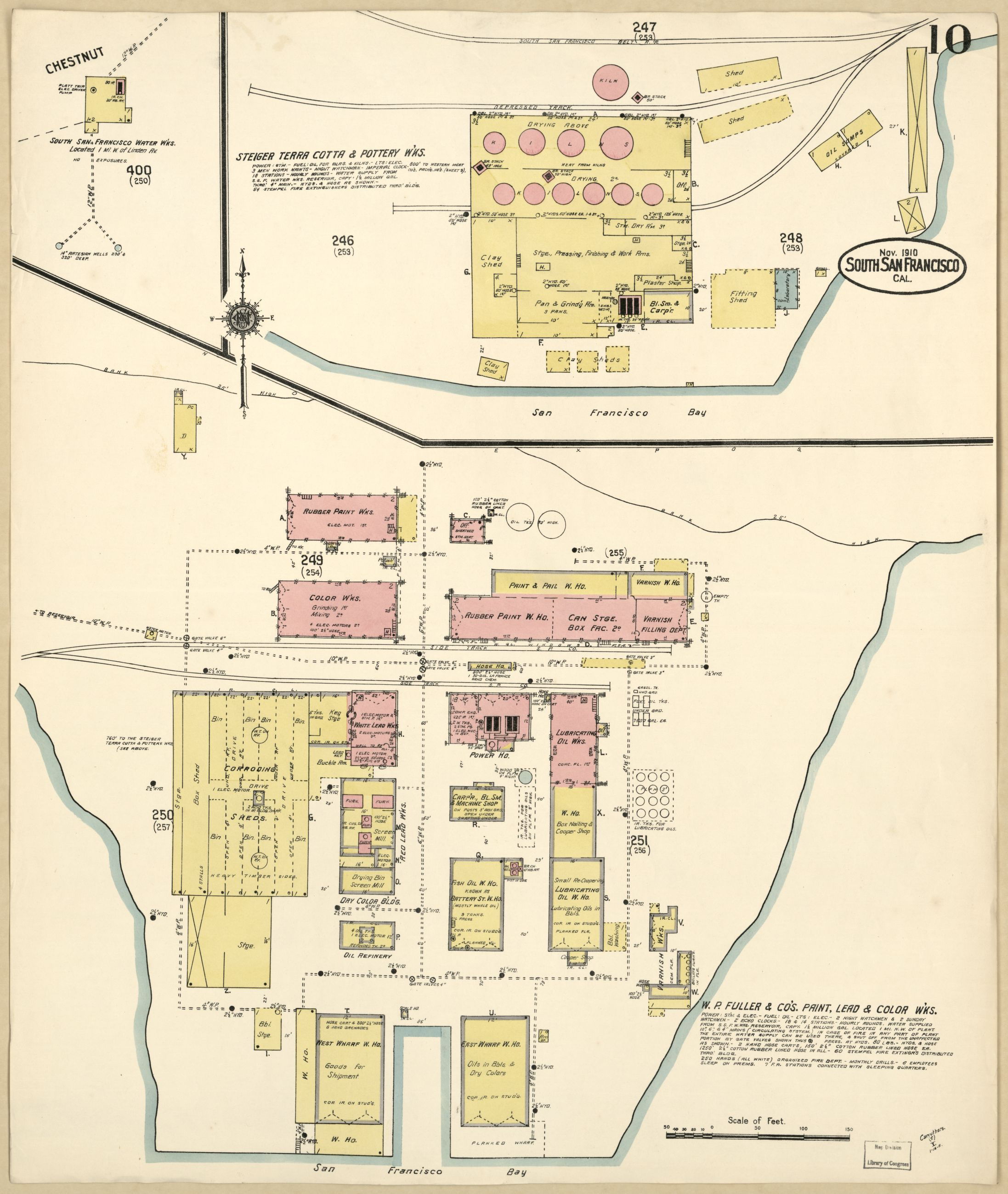 Title Sanborn Fire Insurance Map from South San Francisco San