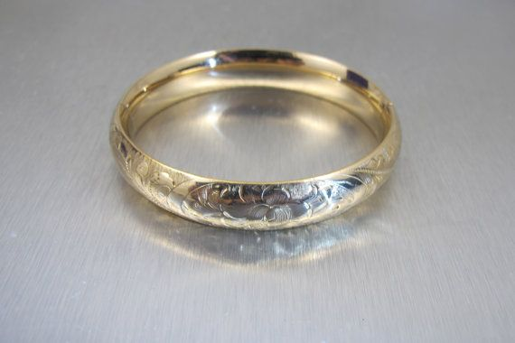 Victorian Bangle Bracelet Gold Filled by TonettesTreasures on Etsy #vintage #jewelry #teamlove