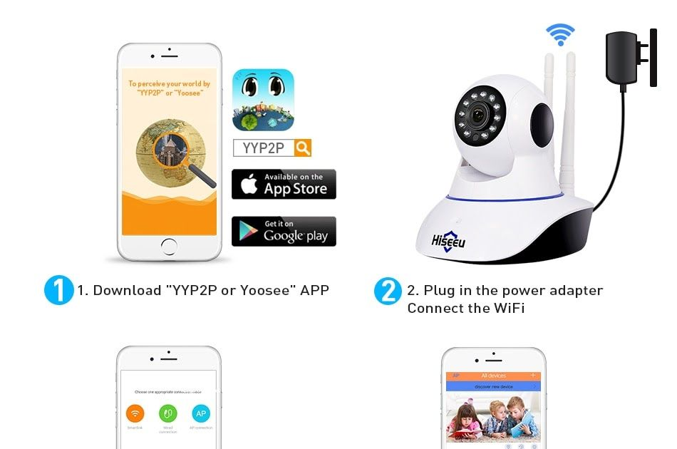 Discount This Month Hiseeu 1080P IP Camera Wireless Home Security IP