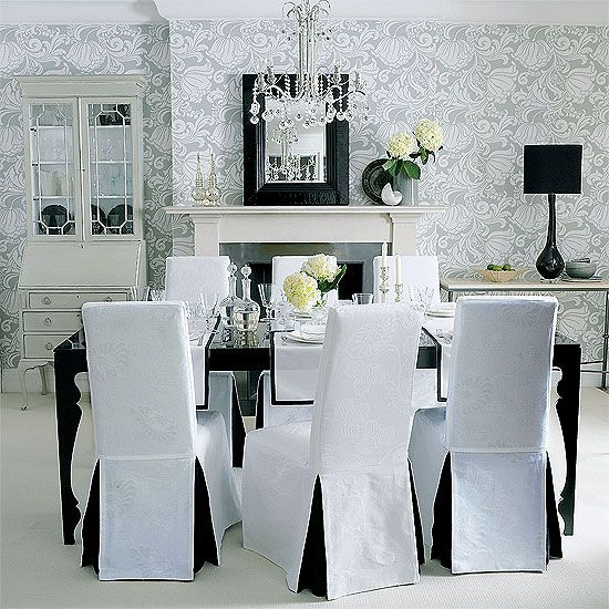 Formal W A Lot Of Stuff Dining Room Chair Slipcovers White