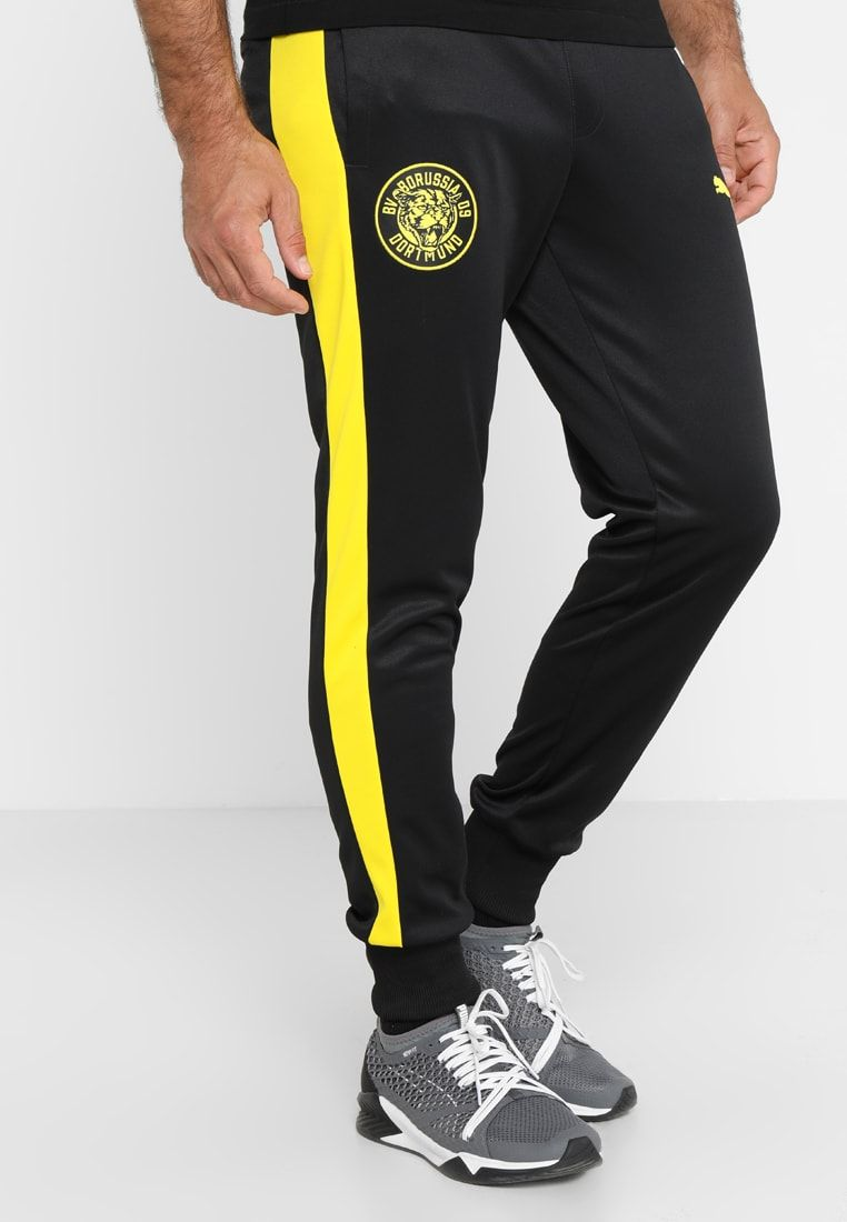 0f3146cc57cdd8 Puma BVB BORUSSIA DORTMUND PANTS - Club wear - puma black - Zalando.co.uk