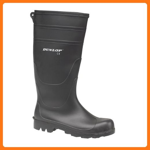 4bf70dcfb030 Dunlop Universal PVC Welly   Mens Wellington Boots   Rain Boots (11 US) ( Black) ( Partner Link)