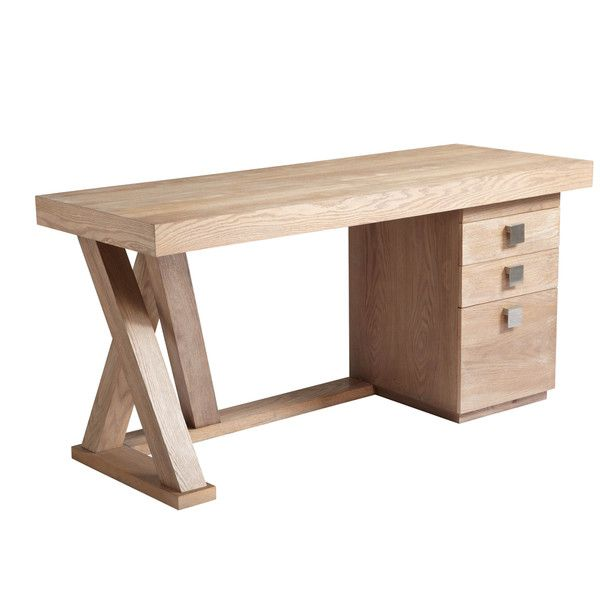 Sunpan Madero Contemporary Wood Desk With Drawers