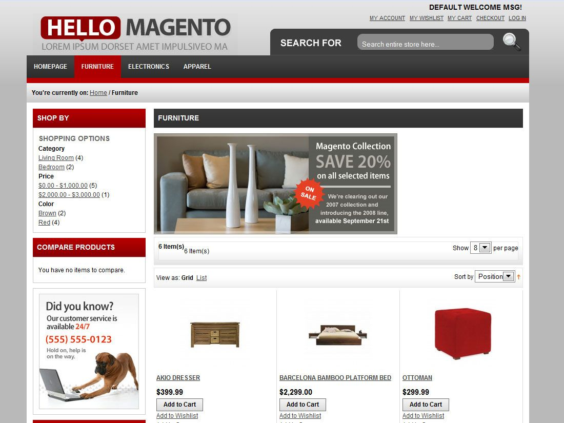 http://www.victoo.net/hello-magento-free-magento-template-214.html ...