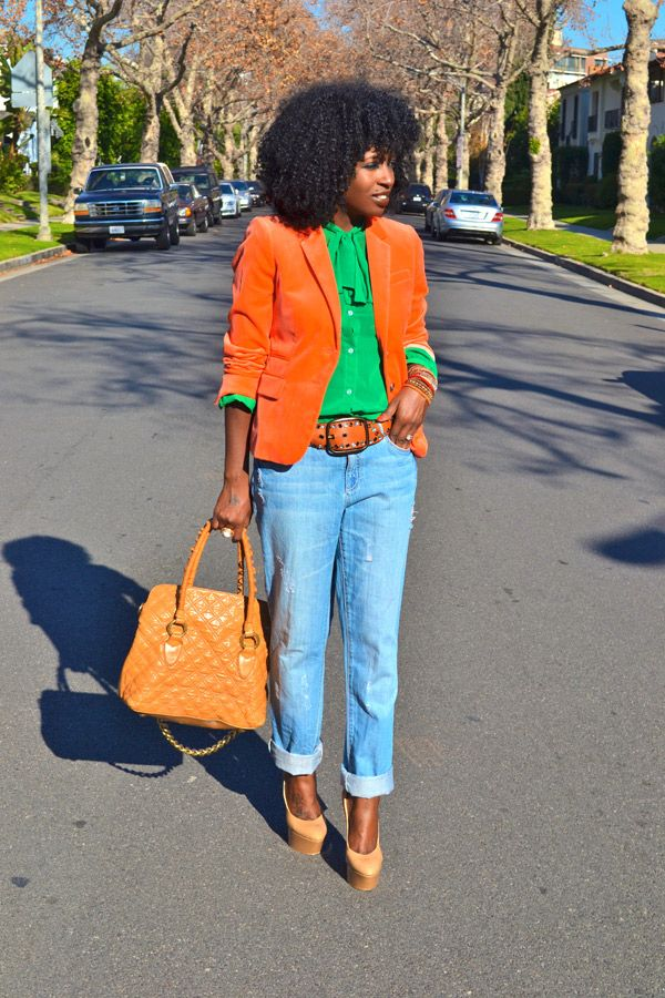 I love the POP of color. The orange is everything.