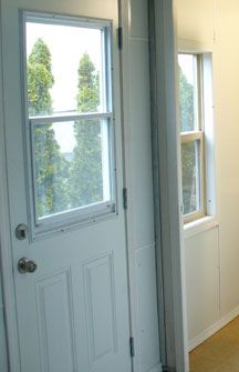Exterior door with window