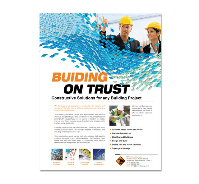 Industrial \ Commercial Construction Flyer Template construction - software brochure