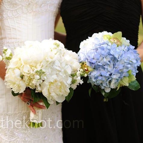 Hydrangea bouquets. I do love hydrangeas!