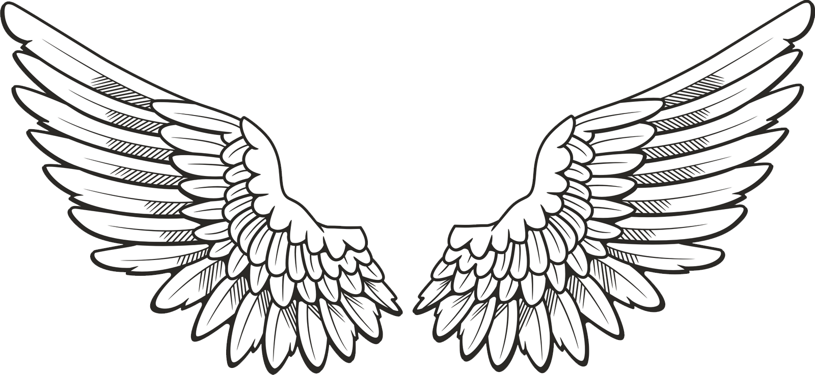 Transparent Background Angel Wings Png Clipart In 2020 Angel Wings Clip Art Wings Tattoo Wing Neck Tattoo