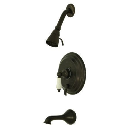 Kingston Brass KB363.0PL Restoration Tub and Shower Trim with Single Function Sh Oil Rubbed Bronze Faucet Tub and Shower Single Handle
