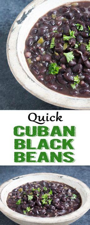 Quick Cuban Black Beans