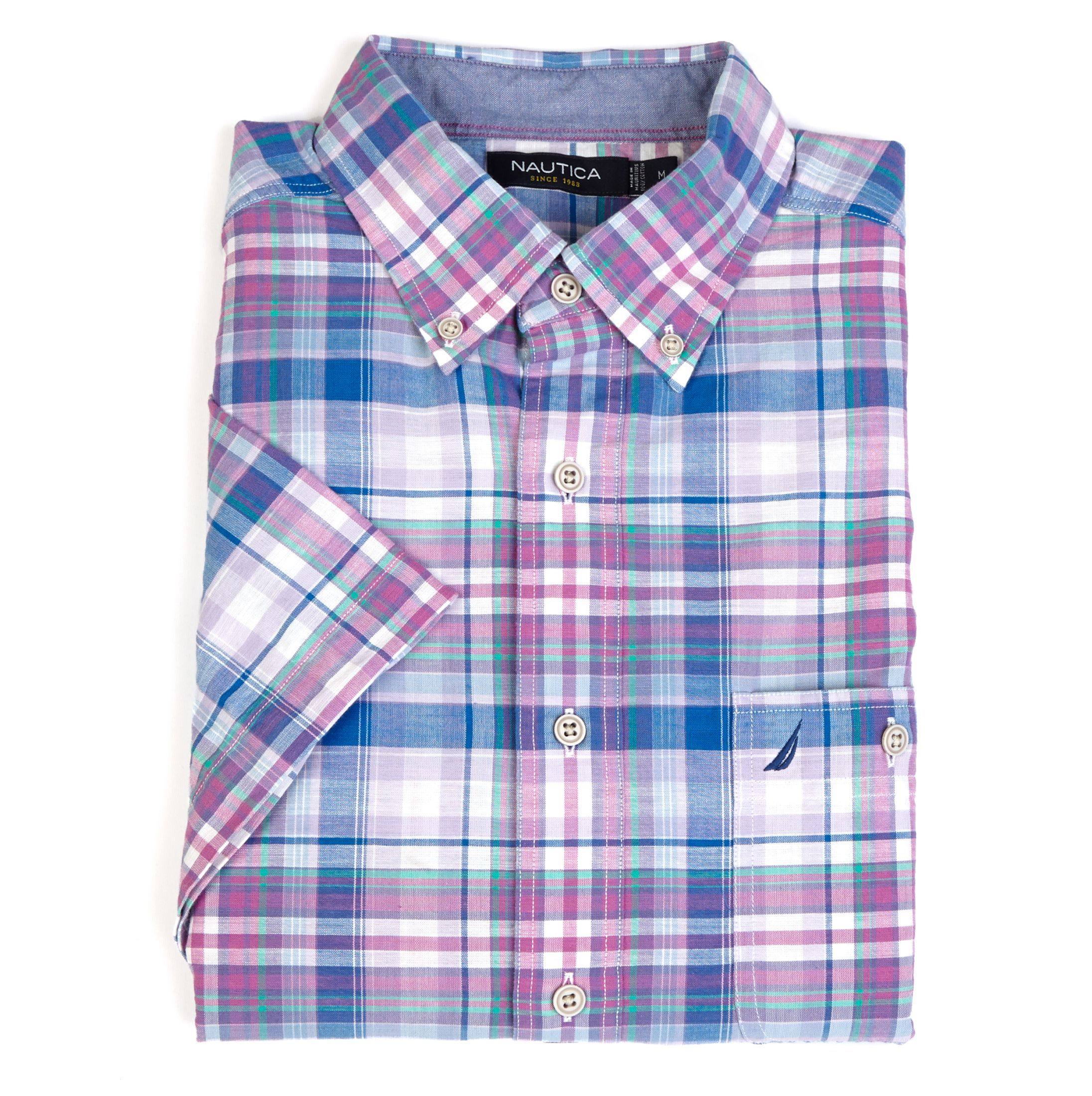 Orchid Plaid Short Sleeve Shirt Business Casual Pinterest