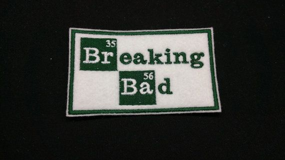 Breaking Bad Chemistry Bottle Embroidered Patch Badge Iron on or sew.