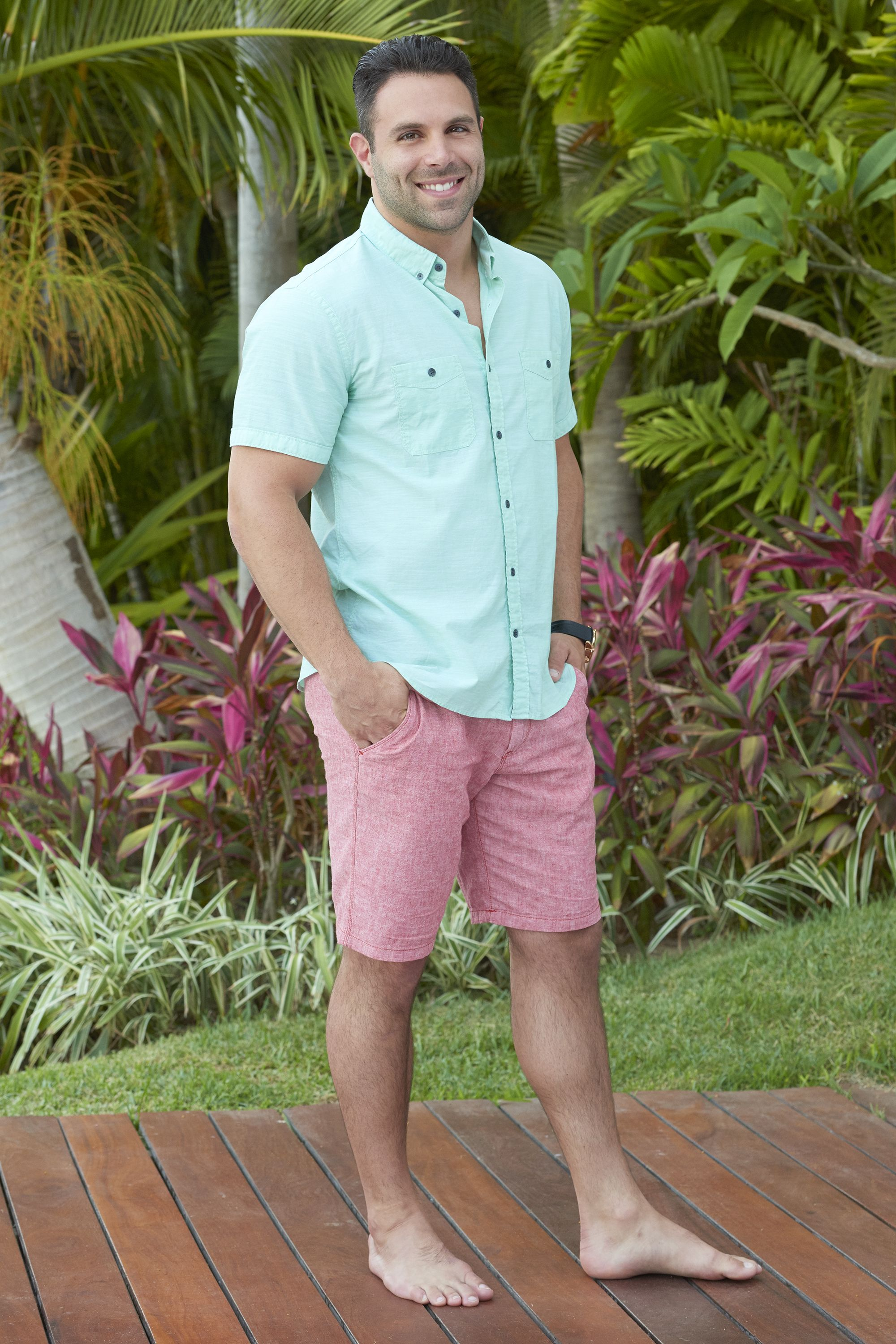 Pin For Later: Bachelor In Paradise Lineup: Here Are The Sexy Franchise  Favorites Playing Mikey Tenerelli