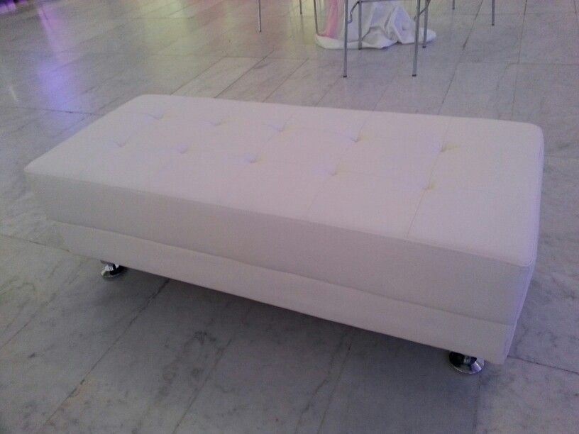 White Leather Bench Corporate Events Pinterest