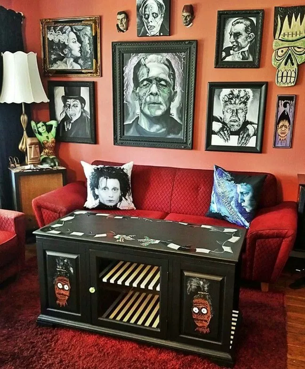 20+ Attractive DIY Living Room Halloween Decoration Ideas ...