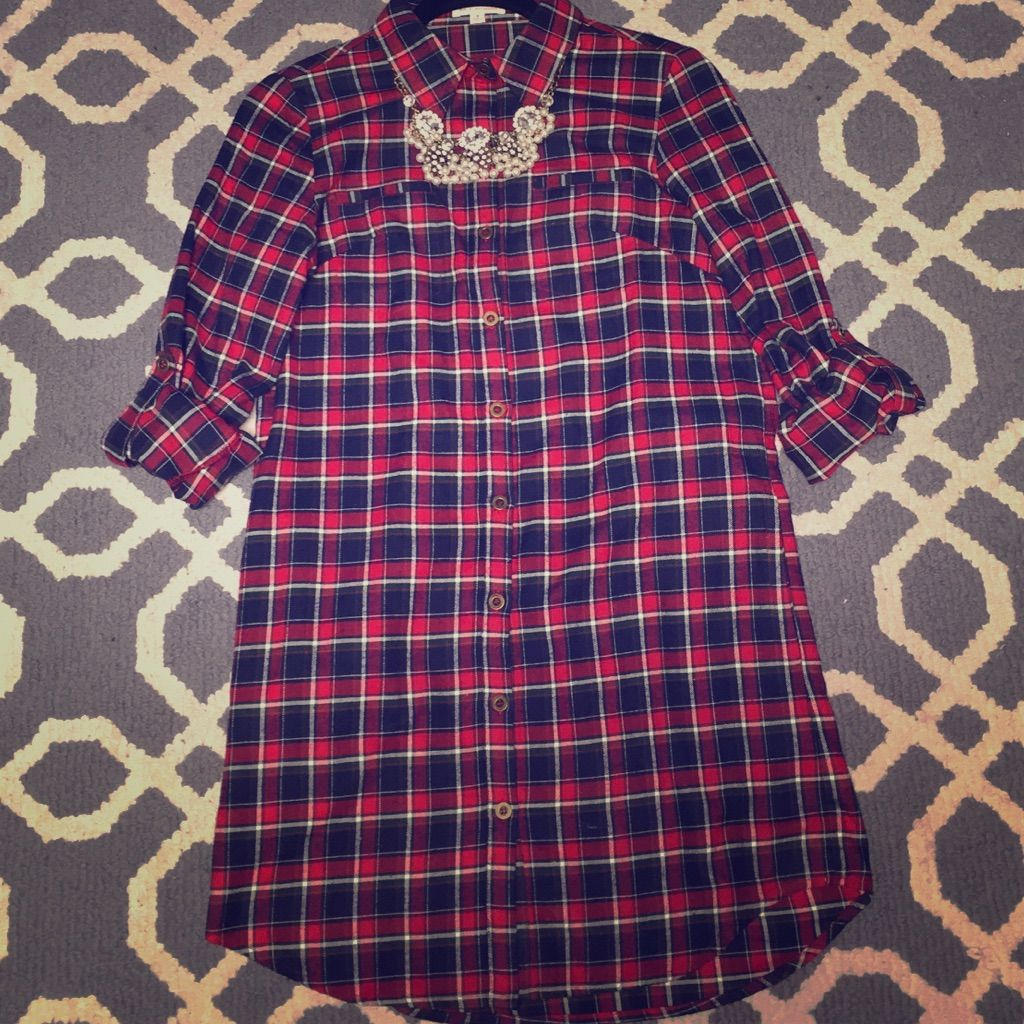 Flannel with shirt underneath  Flannel Dress  Flannel dress Flannels and Products