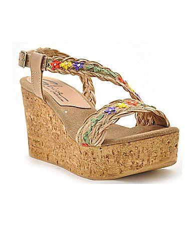 80eeb6acb023 Sbicca Palmera Floral Braided Wedge Sandals  Dillards