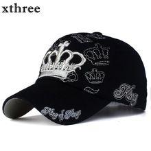 1xthree de oro bordado corona gorra de béisbol entre padres e hijos niño  Embroma el casquillo 79579c86838