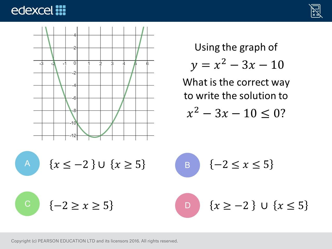 Quadratic Inequalities Higher Gcse Maths Question Of