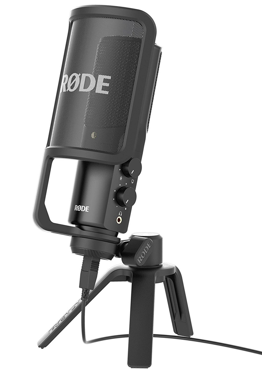 Rode Nt Usb Condenser Microphone High Quality Studio Ultra Low Noise With The Convenience Of Connectivity On Mic Mix Control Includes