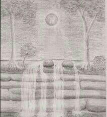 My pencil landscape