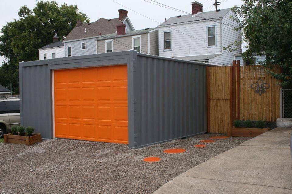 faux wagen garagentore fenster shipping container garage core design gärażh גאראזש in 2018