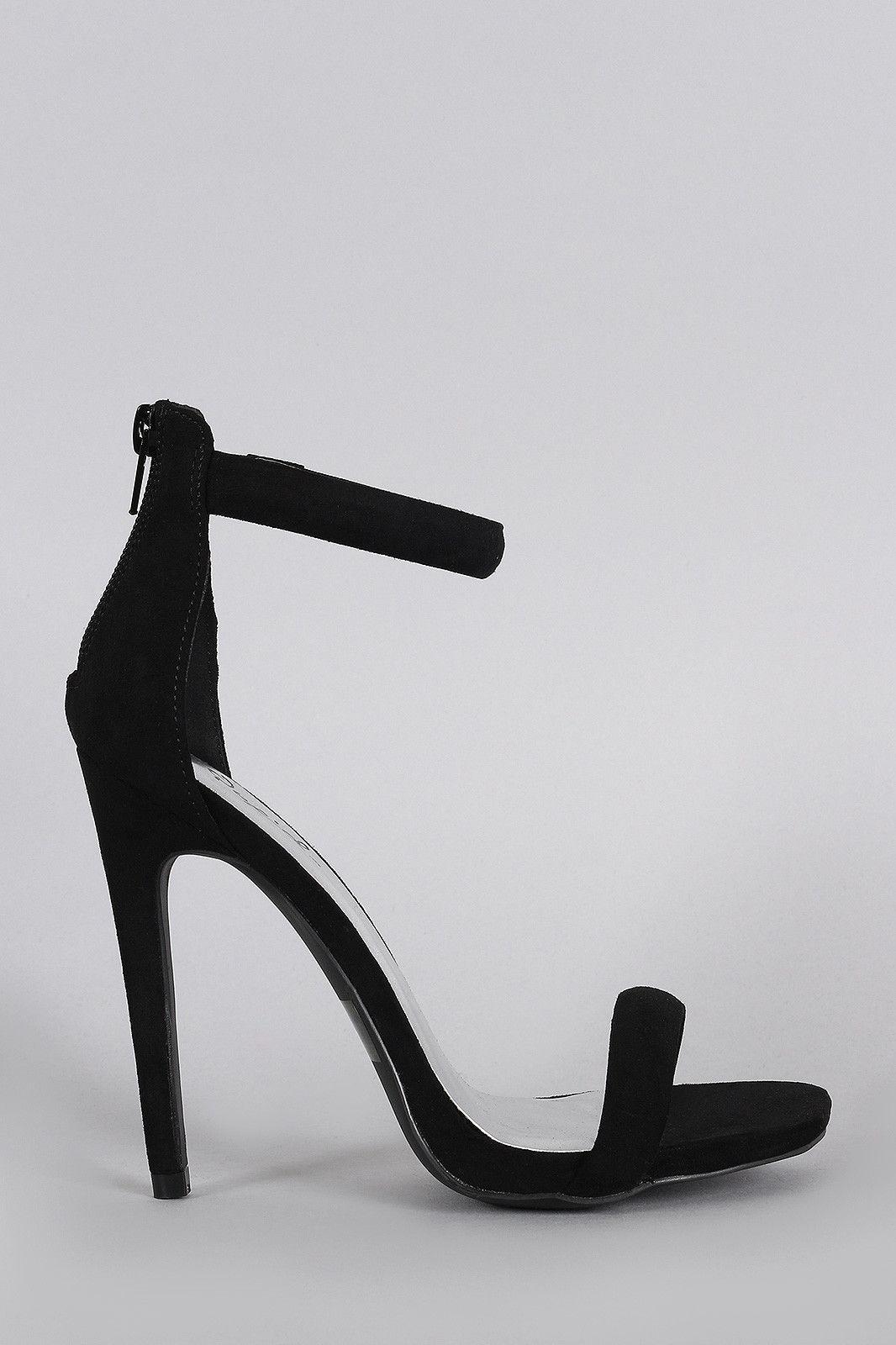 ca8c913a84ce3 Qupid Classic Ankle Strap Open Toe Heel | Shoe love is True love ...
