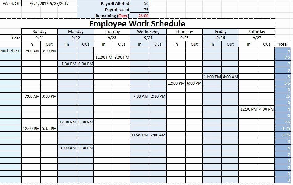 Employee Schedule Template Free Download Fresh Work Schedule Templates Free Downloads Daily Schedule Template Schedule Template Schedule Templates