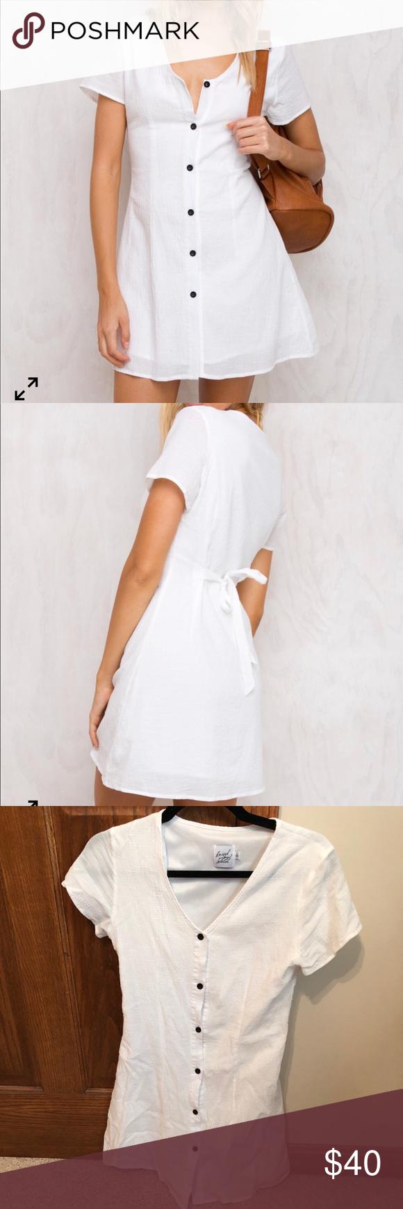 10e7a303eca White linen button up dress