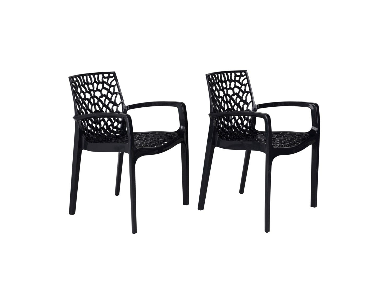 Lot 2 de fauteuils DIADEME jardin empilables de 2W9YeEHbDI