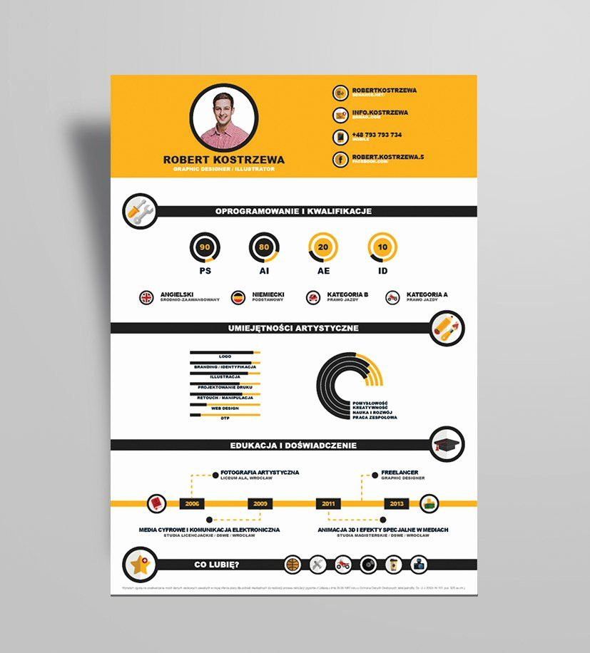 25 Infographic Resume Template Free In 2020