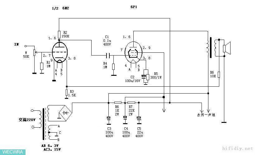 6N2 + 6P1(3) tuebe amplifier | Tube amps | Vacuum tube, Amp, Headset