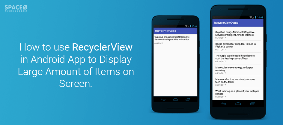 Android App Tutorial Use RecyclerView in Android to