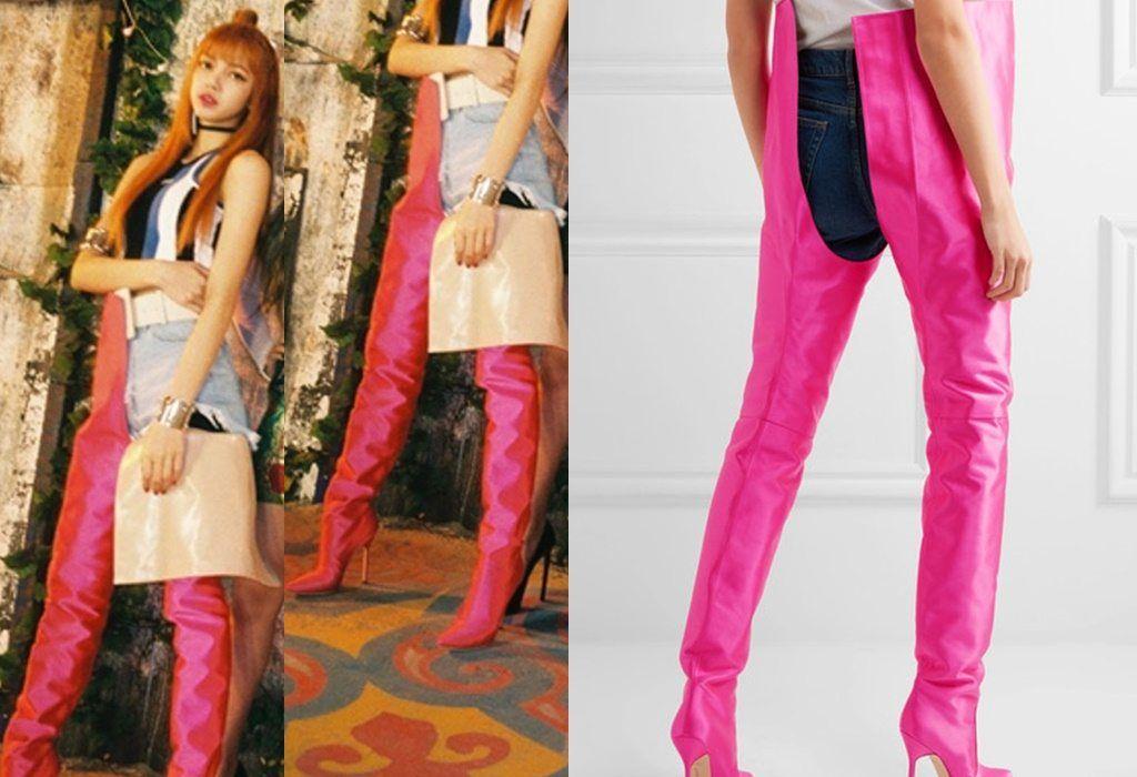 blackpink lisa boots