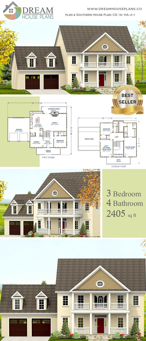 Dream house plans affordable yet luxury southern bedroom sq