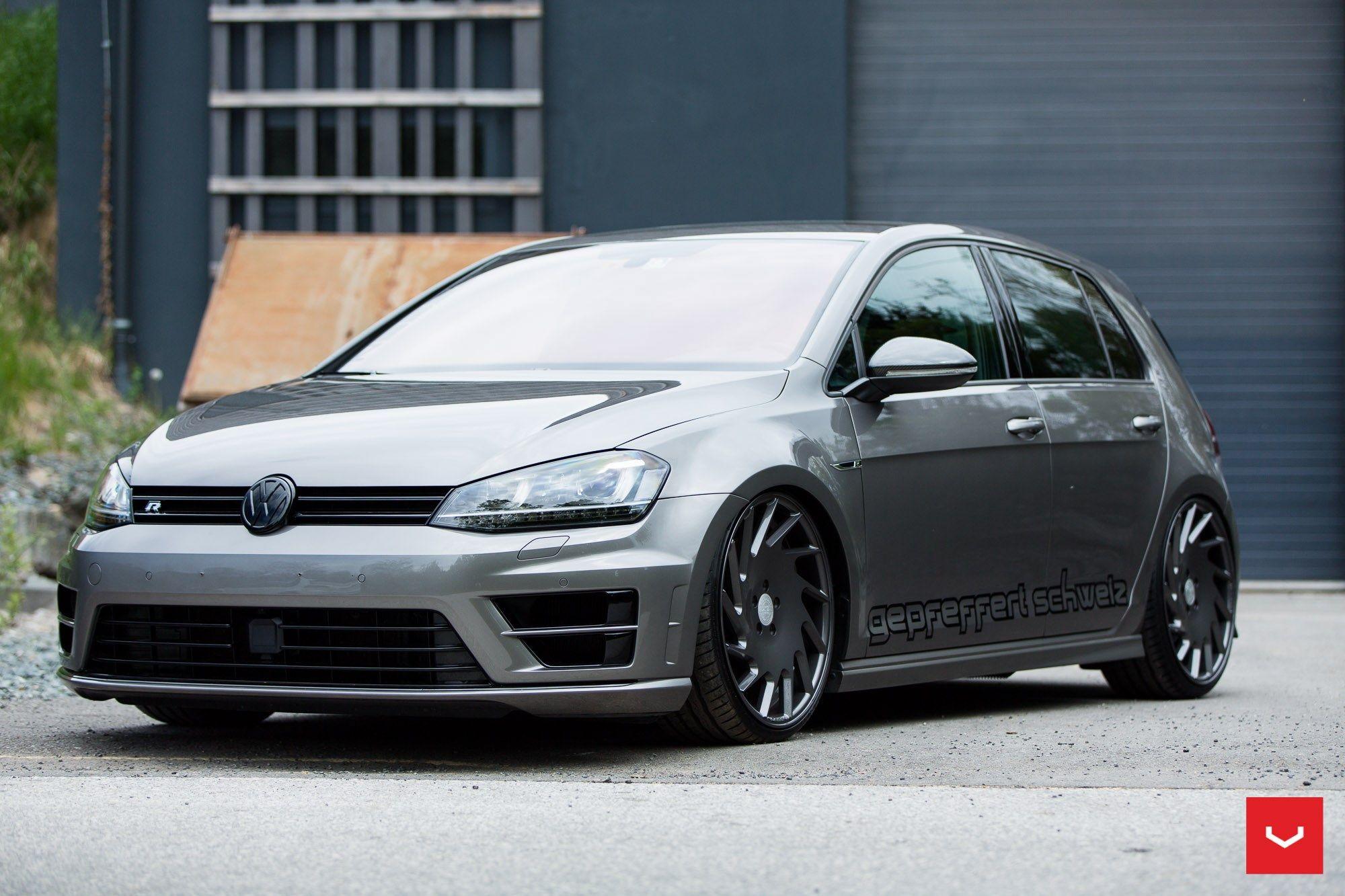 Vw Golf R Vossen Vle1 Vw Golf Car Volkswagen Vw Golf Vr6