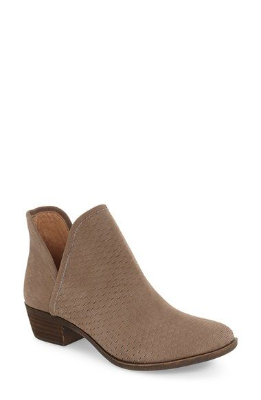 dd1646bfe85297 Free shipping and returns on Lucky Brand  Bashina  Perforated Bootie  (Women) at Nordstrom.com. Perforated slits and a stacked block heel further  the ...