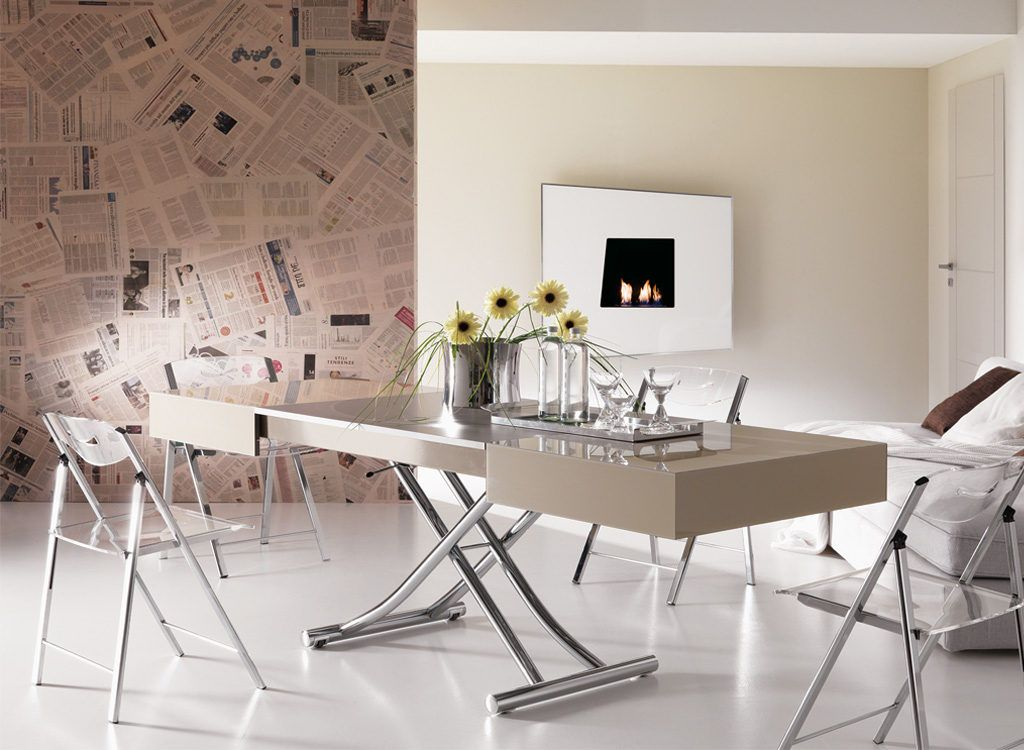 Expandable Coffee Table Cristallo Resource Furniture Dining
