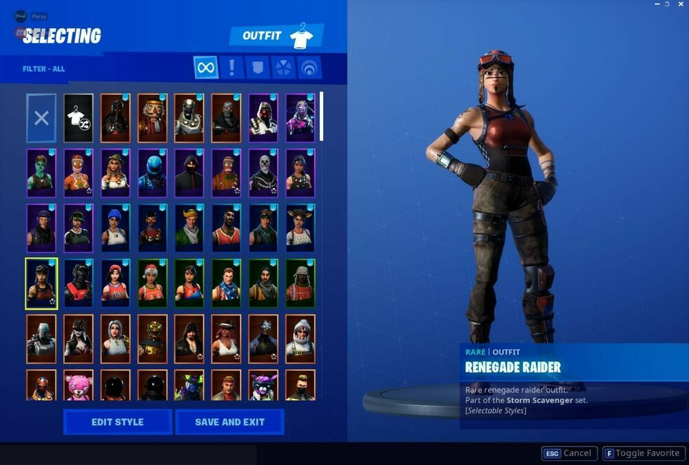 Fortnite account Stacked, honor guard, Renegade, Rare, Og ...