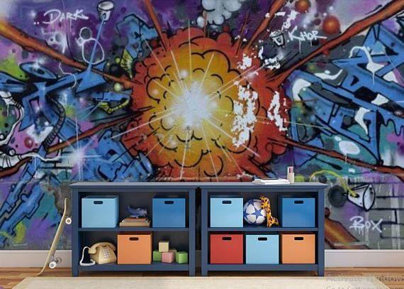 Graffiti Wall Mural Graffiti Wallpaper Peel And Stick Wall Murals Graffiti Wallpaper Graffiti Wall