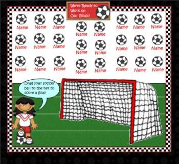 Smartboard Attendance Soccer Theme Smart Board Lessons Sports