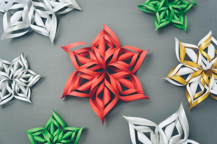 tutorial 3d paper snowflake httpwwwhandimaniacomdiy3d paper snowflakehtml