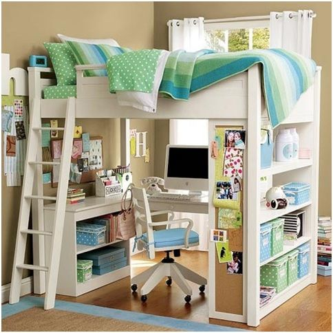 Cool Beds, Student Loft Bed With Desk