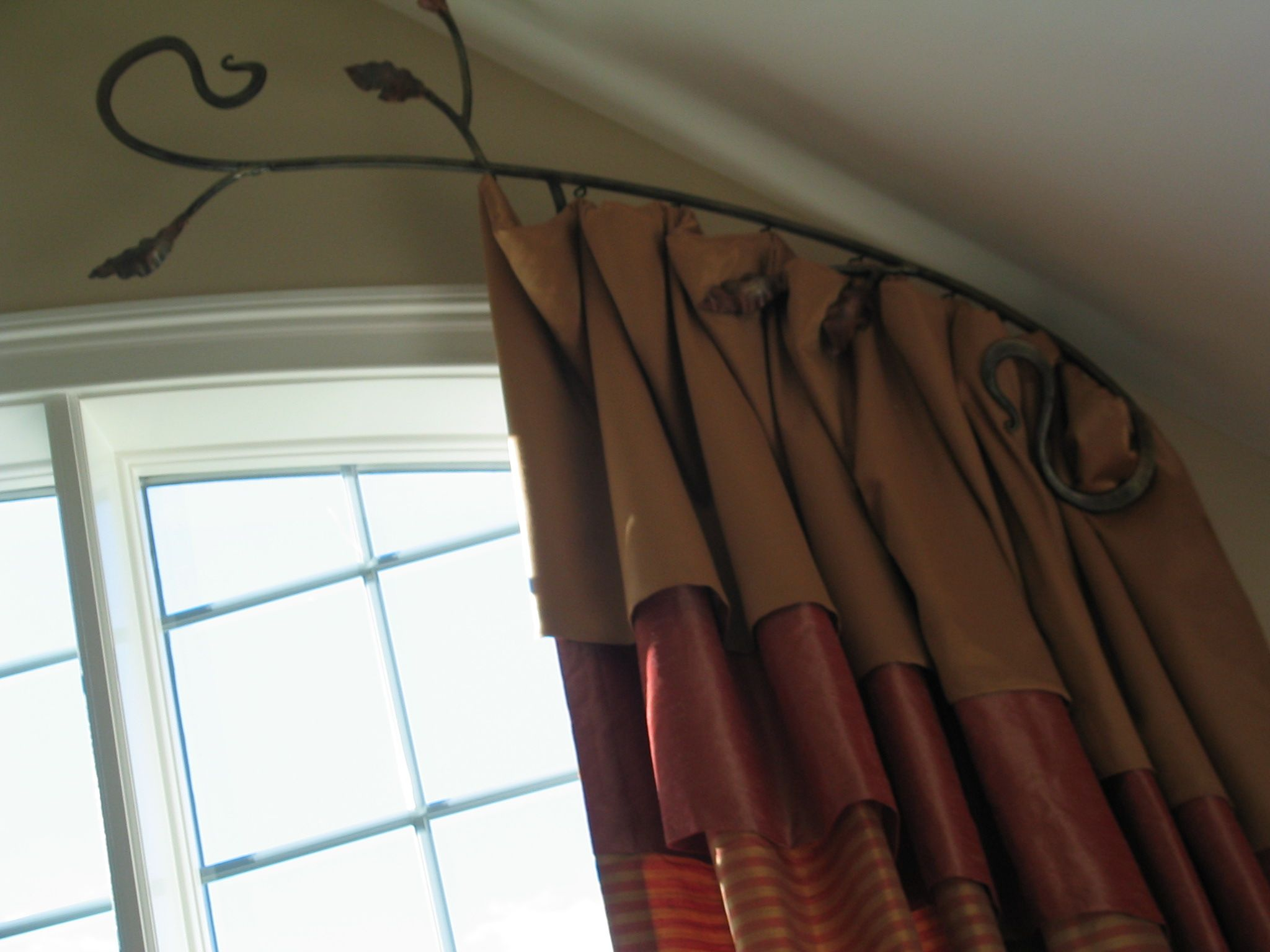 Arch Curtain Rod2 Story Window Treatments