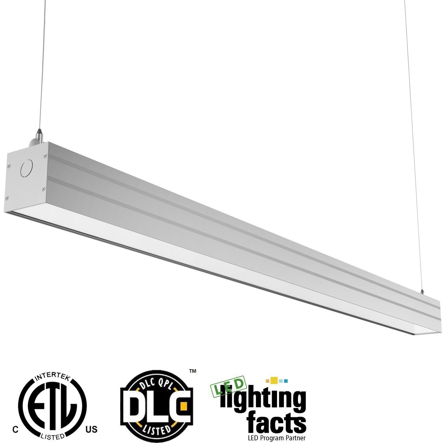 Hykolity 4ft 40w linkable led architectural ceiling light modern hykolity 4ft 40w linkable led architectural ceiling light modern linear suspension pendant lamp lighting fixture 4600 arubaitofo Gallery