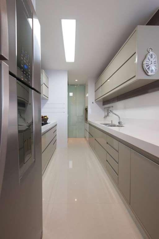 cozinhas planejadas corredor actual design 104094 - Viva Decora